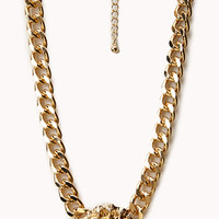 Curb Chain Lion Necklace