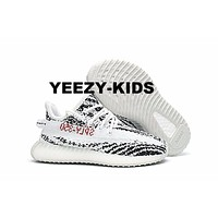ADIDAS YEEZY BOOST 350 V2 INFANT Zebra WHITE/CBLACK/RED BB6374 CP9396 TODDLER KIDS Boys Children Baby Child