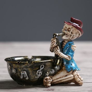 Skull Skulls Halloween Fall Scary Halloween Character Skeleton Ashtray  Children Fun Ashtray Children Tricky Gifts Home Decorations Accessories Crafts Calavera