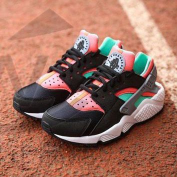 PEAPNW6 Sale Nike Air Huarache 1 Rainbow Ultra Breathe Men Women Hurache Black/Green/White Running Sport Casual Shoes Sneakers - 201