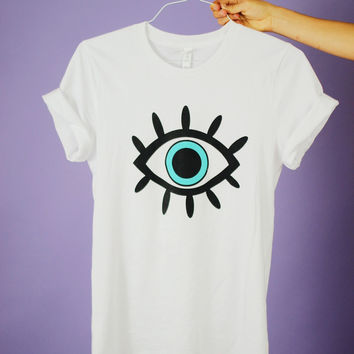 Blue Eye White Graphic Unisex Tee