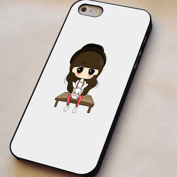 Little Girl Holding a Bunny iPhone 4s iphone 5 iphone 5s iphone 6 case, Samsung s3 samsung s4 samsung s5 note 3 note 4 case, iPod 4 5 Case