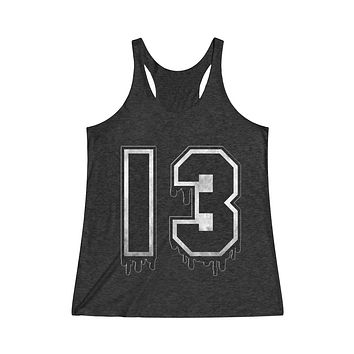 Thirteen Women's Tri-Blend Racerback Tank