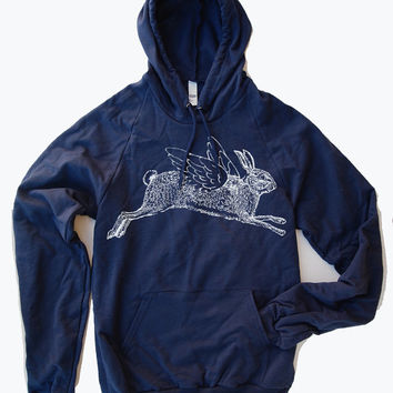 Unisex RABBIT Fleece PULLOVER Hoody - American apparel - 4 Color Options
