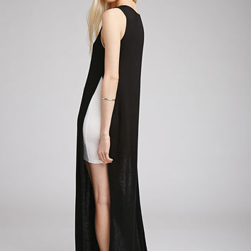 High-Slit Layered Tank Dress