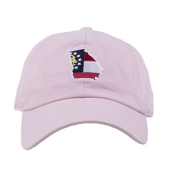 Georgia Traditional Hat in Pink by State Traditions