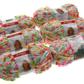 Premier Yarns Deborah Norville Serenity Playdate Color Lot of 6 Skeins Balls