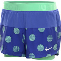 NIKE Women's Icon Print Woven 2-in-1 Shorts