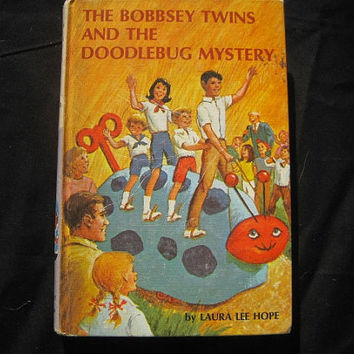 1970 Printing of Laura Lee Hope The Bobbsey Twins and the Doodlebug Mystery Hardcover Childrens Book