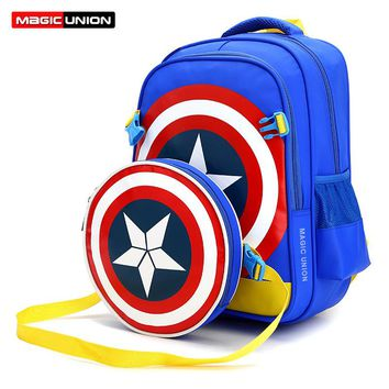 MAGIC UNION Large School Bags for Boys Girls Children Backpacks Primary Students Backpacks Waterproof Schoolbag Kids Book Bag