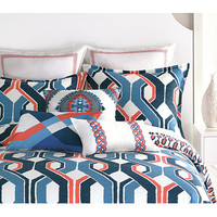 Trina Turk Coastline Ikat Comforter Set - King Blue/Coral - Zappos.com Free Shipping BOTH Ways