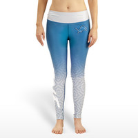 Detroit Lions Womens Gradient Print Leggings