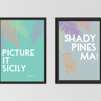 Golden Girls Quote Set 2 Printable Set Wall Art