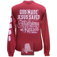 New Girlie Girl Jesus Saved Alabama Raised Bright Long Sleeves T Shirt