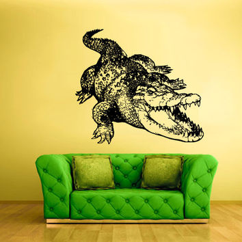 rvz1593 Wall Vinyl Sticker Decals Decor Alligator Crocodile Animal Croc