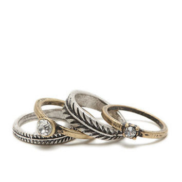 With Love From CA Leaf Stackable Ring Set at PacSun.com