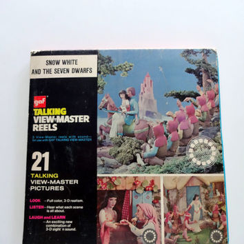 Vintage Snow White and the Seven Dwarfs View Master Reels 1955