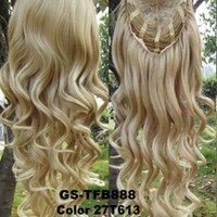 3/4 Half Hair Extensions,Body Wave Wigs ,Synthetic Hair Extensions,Heat Resistant Brown Blonde Clip in Hair Extensions U pick 200g 27T613