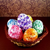 Delta Lace Easter Egg Set from Heritage Heartcraft