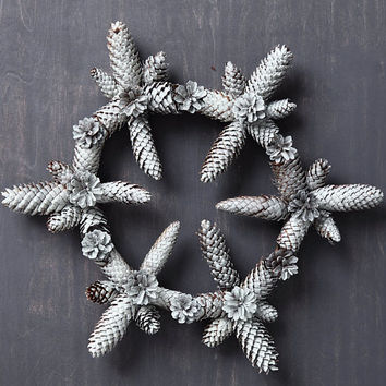 Pine cone wreath, Christmas wreath, pinecone wreath, white  wreath,  door wreath, wreaths,  winter wreath,  christmas weddings