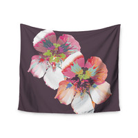 "Love Midge ""Graphic Flower Nasturtium"" Lavender Floral Wall Tapestry"