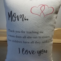 Mom pillows mother gift canvas throw pillow mom gift home decor