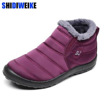 2018 New Women Winter Snow Shoes Snow Boots Warm Plush Antiskid Bottom Thermal Waterproof women Ski Boots Size 35-43 n184
