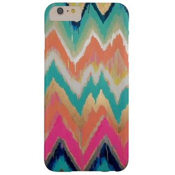 Watercolor Bright Chevron Zig Zag Stripe Pattern Barely There iPhone 6 Plus Case