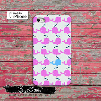 Whale Pattern Pink and Blue Cute Tumblr Inspired Cool iPhone 4/4s Case and iPhone 5 and 5s and 5c Case and Wallet Case and iPhone 6 and 6 +