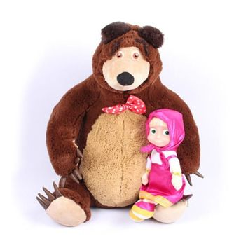 Russian Musical Masha Dolls & Bear Plush Stuffed Toys and the Brand Educational For Boys Girls Birthday Christmas New Year Gifts