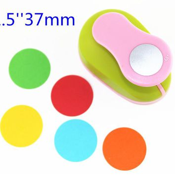 3.5cm DIY Paper Printing Card Cutter Scrapbook Shaper Large-scale Embossing device Hole Punch Kids Handmade Craft gift YH16