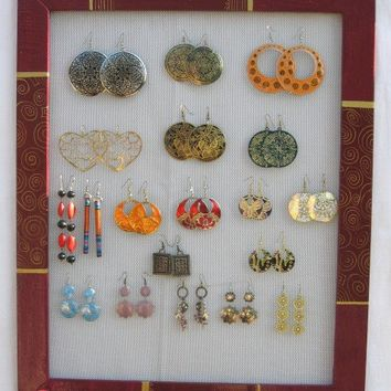 JEWELRY ORGANIZER DISPLAY Rack / Bourdeaux / 60 - 80 Earrings / 36 - 48 Necklaces