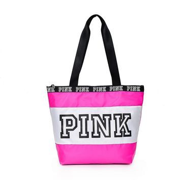 2018 printing Pink Letter Handbags Women VS Pink Purse Totes travel bag Duffle Beach Shoulder Bag Waterproof Shopping Bags