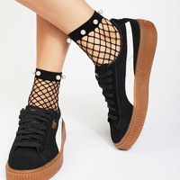 Free People Pearl Fishnet Anklet