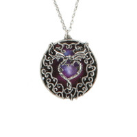 LOVEsick Dragons Heart Pendant Necklace