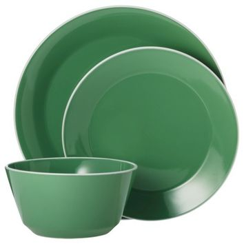 Room Essentials® Angled Rim 12 Piece Dinnerware Set - Fresh Green