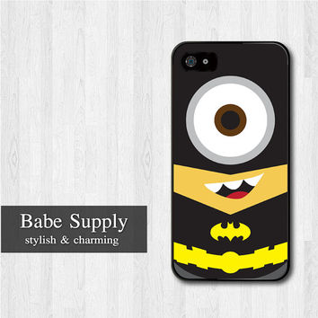 Batman Minion iPhone 5 case, Disney iPhone 5 hard case, Despicable Me cover skin case for iphone 5 (Hard / Rubber case for choice)