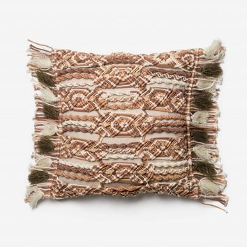 Loloi Brown / Ivory Decorative Throw Pillow (P0442)