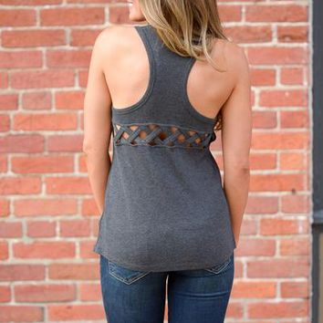 Outside the City Limits Tank - Charcoal