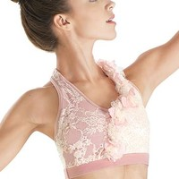 Sequin Lace Halter Bra Top - Balera
