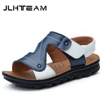 Summer Beach Boy Sandals Kids Genuine Leather Shoes Fashion Sport Sandal Children Sandals For Boys  Leather Casual Shoes
