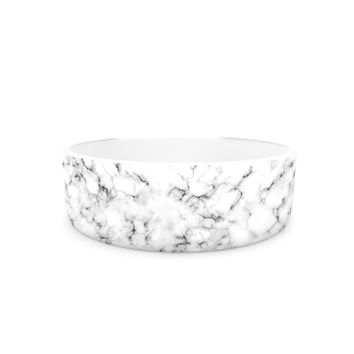 "Will Wild ""Marble"" White Gray Pet Bowl"