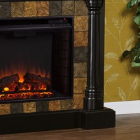 Weatherford Convertible Electric Fireplace Black