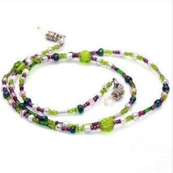 Womens glass Beaded Eyeglass Eyewears Sunglasses Reading Glasses Chain Cord Holder neck strap Rope