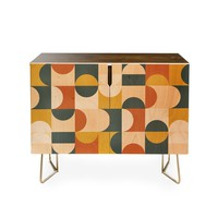 Credenza by The Old Art Studio MID CENTURY MODERN GEOMETRIC 23
