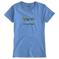 Shark In The Water Ladies T-Shirt