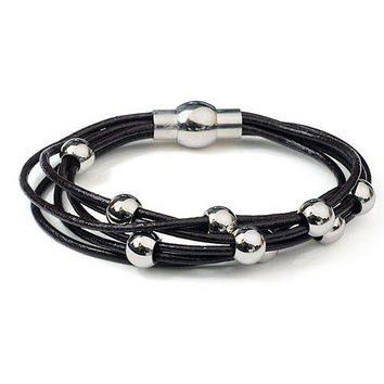 Stylish Awesome Gift Hot Sale New Arrival Great Deal Shiny Leather Accessory Ring Couple Jewelry Bracelet [6543870531]