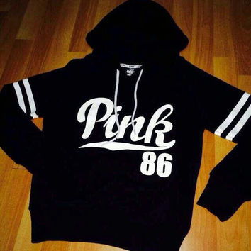 PINK 86 Printed Hooded Sweatshirt
