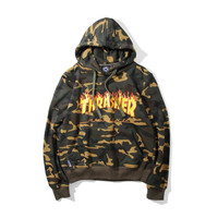 Cool Unisex Thrasher Camo Hooded Sweatshirt Christmas Gift