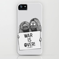 John Lennon and Yoko Ono Pugs iPhone & iPod Case by Huebucket